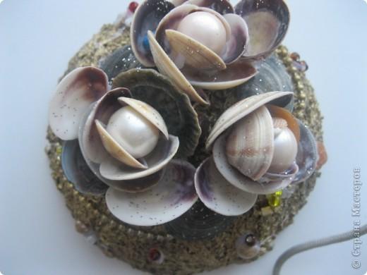Материалы: баночка из под крема,клей ПВА,крупы.ракушки и. т. д . фото 1