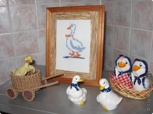 Чешский гусь. Вышивка крестом.  Уголок моей кухни. фото 1