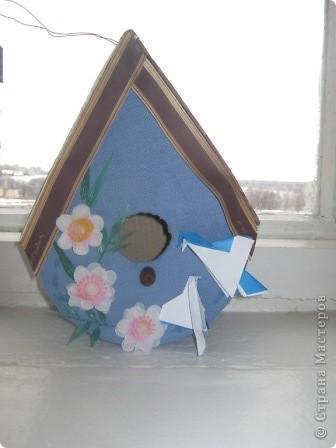 """Этот """"скворечник"""" - работа Большакова Тимофея, 5 класс. """"Птичий особняк"""" - так мы назвали эту работу. фото 4"""
