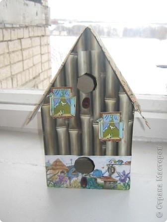 """Этот """"скворечник"""" - работа Большакова Тимофея, 5 класс. """"Птичий особняк"""" - так мы назвали эту работу. фото 1"""