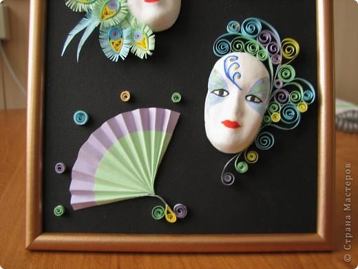 Маски отливала сама из гипса в пластилиновую форму (слепок снимала с лица керамической куклы).  фото 3
