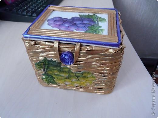 Моя вторая коробочка. Еще много недочетов, будем оттачивать мастерство.:) фото 1
