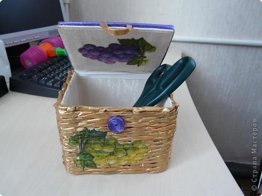 Моя вторая коробочка. Еще много недочетов, будем оттачивать мастерство.:) фото 2