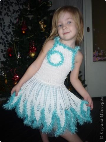 платье снежинка крючок схема