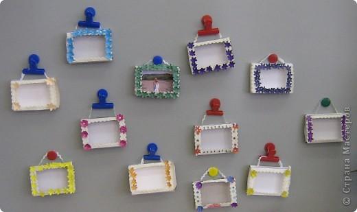 Рамки для фотографий. Первые работы моих малышей  фото 1