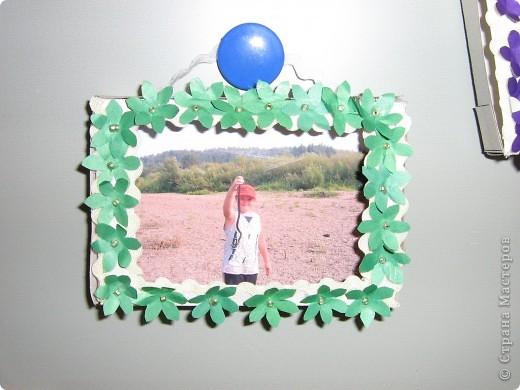 Рамки для фотографий. Первые работы моих малышей  фото 3