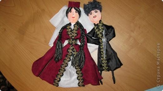 Куклы в осетинском костюме.