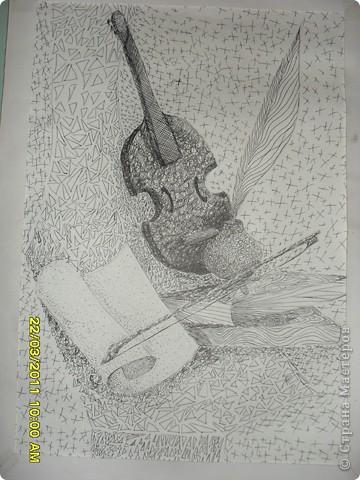 Любить рисовать черной гелевой пастой фото 2