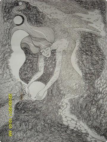 Любить рисовать черной гелевой пастой фото 1