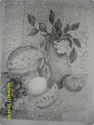 Любить рисовать черной гелевой пастой фото 3