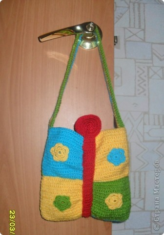 Мне очень понравилась сумка-бабочка, которую я увидела на этом сайте! Захотела связать такую же для маленькой племянницы Вероники! фото 1