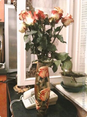Продолжаю о подареных цветах, чтобы, так сказать, охватить всю картину ))) Это букет таких же роз, как стоят у меня - брат подарил маме фото 1