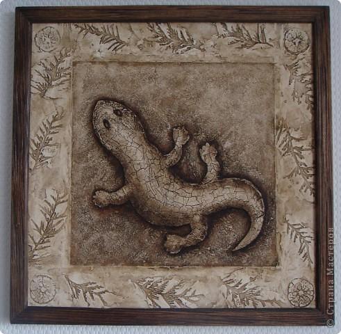 Коричневая ящерица со светлой рамкой фото 4