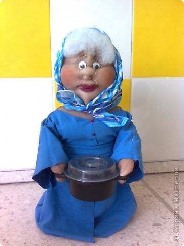 Кукла из капрона - Баба Лина готовит суп фото 1