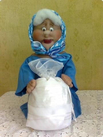 Кукла из капрона - Баба Лина готовит суп фото 2