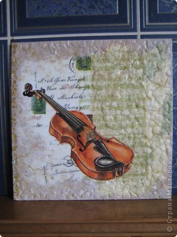 Скрипка.Вдохновили мастерицы сайта. фото 1