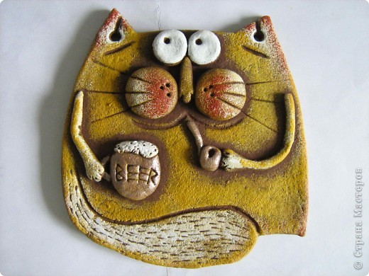 Очередные коты! Очень легко лепятся и еще легче разрисовываются))  фото 3