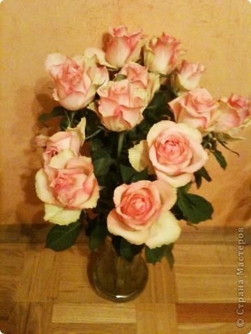 Продолжаю о подареных цветах, чтобы, так сказать, охватить всю картину ))) Это букет таких же роз, как стоят у меня - брат подарил маме фото 5