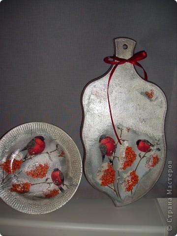 """Досочка  """"Осень"""". заготовка, салфетка, акриловые краски, лак. фото 3"""