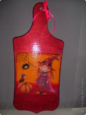 """Досочка  """"Осень"""". заготовка, салфетка, акриловые краски, лак. фото 4"""