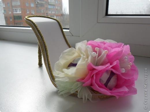 Вот такая вот получилась туфелька в подарок для моей подружки-модницы фото 1