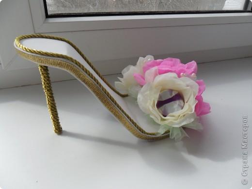 Вот такая вот получилась туфелька в подарок для моей подружки-модницы фото 2