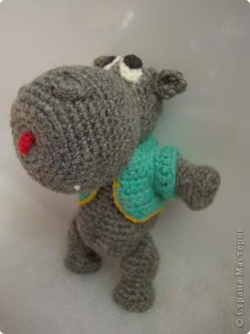 Форум почитателей амигуруми (вязаной игрушки) - Галерея - Просматривает изображение - Бегемотик.