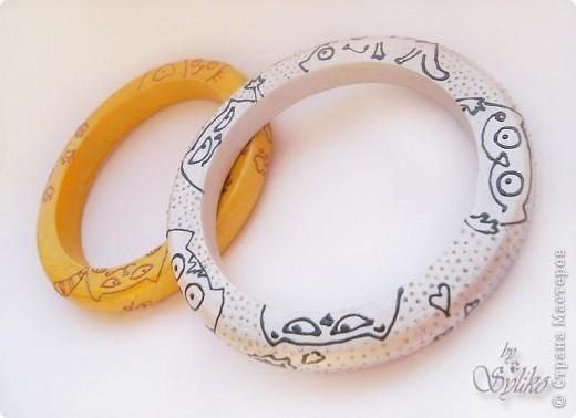 """Браслет """"Оранжевое настроение"""", коты с иллюстраций Алены Барановой. Очень я в них влюбилась и захотелось на лето сделать такой яркий браслетик фото 4"""