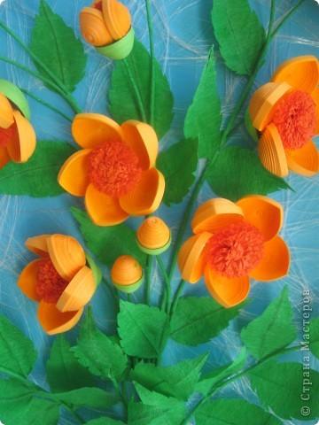 Мои цветочки- это гибрид из всех подобных цветов, увиденных мною в стране Мастеров. Что-то между огоньками, шиповником, пионами ( у Ольги Ольшак, например).Вот, посмотрите: фото 2