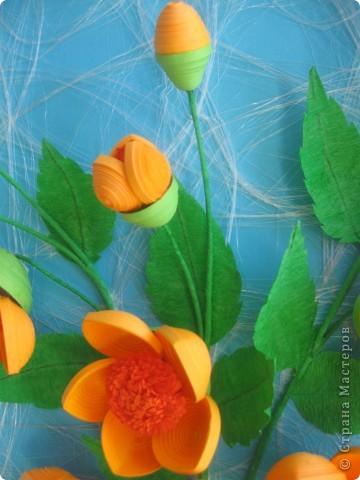 Мои цветочки- это гибрид из всех подобных цветов, увиденных мною в стране Мастеров. Что-то между огоньками, шиповником, пионами ( у Ольги Ольшак, например).Вот, посмотрите: фото 3