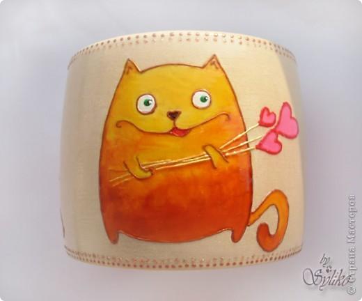 """Браслет """"Оранжевое настроение"""", коты с иллюстраций Алены Барановой. Очень я в них влюбилась и захотелось на лето сделать такой яркий браслетик фото 2"""