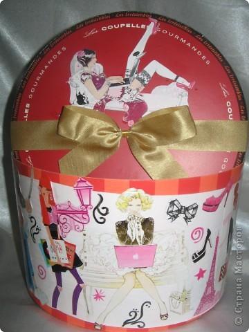 Это была коробочка из-под конфет. Я решила ее украсить. фото 1
