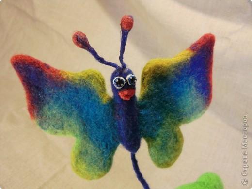 валяный шуточный дракончик с бабочкой, рост23см фото 6