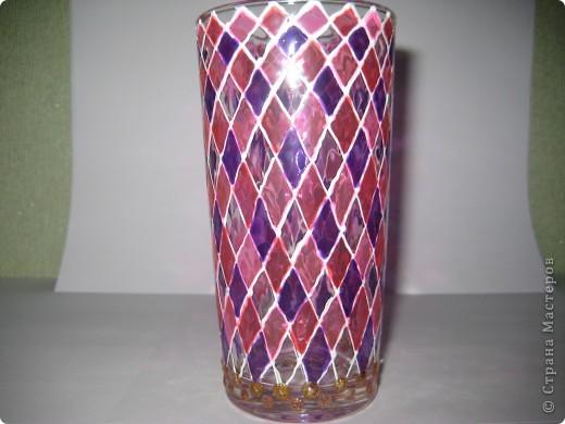 """Для одной сестры - набор стаканов с росписью """"Калейдоскоп""""... фото 2"""