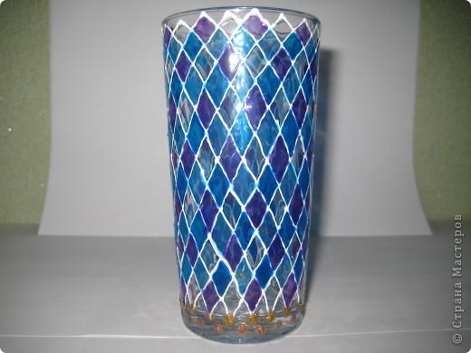 """Для одной сестры - набор стаканов с росписью """"Калейдоскоп""""... фото 6"""