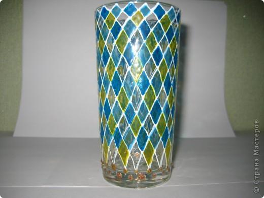 """Для одной сестры - набор стаканов с росписью """"Калейдоскоп""""... фото 9"""