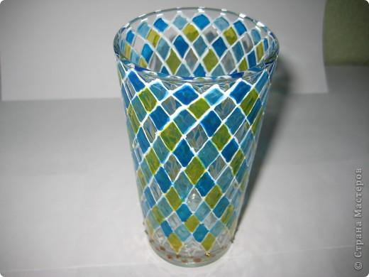 """Для одной сестры - набор стаканов с росписью """"Калейдоскоп""""... фото 10"""