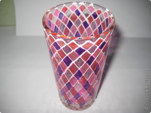 """Для одной сестры - набор стаканов с росписью """"Калейдоскоп""""... фото 3"""