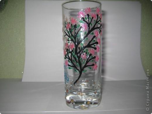 """Для одной сестры - набор стаканов с росписью """"Калейдоскоп""""... фото 15"""