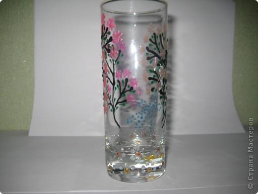 """Для одной сестры - набор стаканов с росписью """"Калейдоскоп""""... фото 14"""