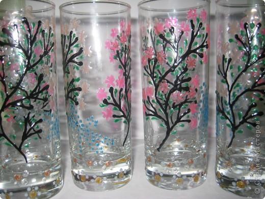 """Для одной сестры - набор стаканов с росписью """"Калейдоскоп""""... фото 13"""