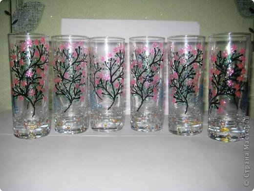 """Для одной сестры - набор стаканов с росписью """"Калейдоскоп""""... фото 11"""