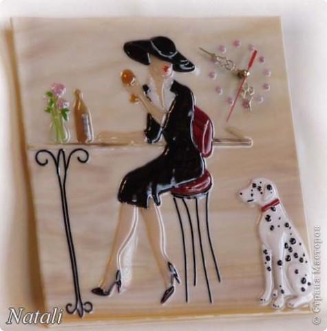 """часы """"Дама с собачкой"""" фото 1"""