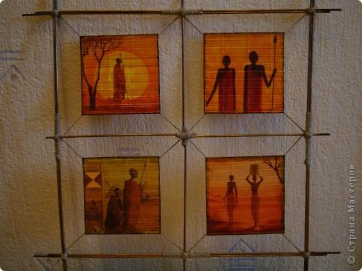 """Добрый день,вечер! Рада всем , кто заглянул! Случайно купила набор салфеток , подборка на тему """"Африка"""".А мечтала о таких салфеточках давно. И вот хочу показать панно , которые у меня получились. фото 13"""