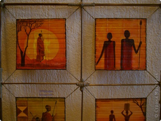 """Добрый день,вечер! Рада всем , кто заглянул! Случайно купила набор салфеток , подборка на тему """"Африка"""".А мечтала о таких салфеточках давно. И вот хочу показать панно , которые у меня получились. фото 11"""