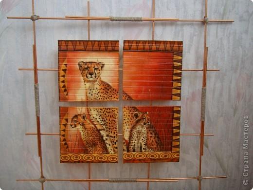 """Добрый день,вечер! Рада всем , кто заглянул! Случайно купила набор салфеток , подборка на тему """"Африка"""".А мечтала о таких салфеточках давно. И вот хочу показать панно , которые у меня получились. фото 3"""
