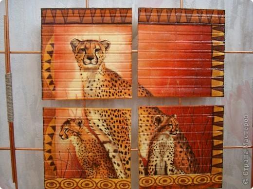 """Добрый день,вечер! Рада всем , кто заглянул! Случайно купила набор салфеток , подборка на тему """"Африка"""".А мечтала о таких салфеточках давно. И вот хочу показать панно , которые у меня получились. фото 4"""
