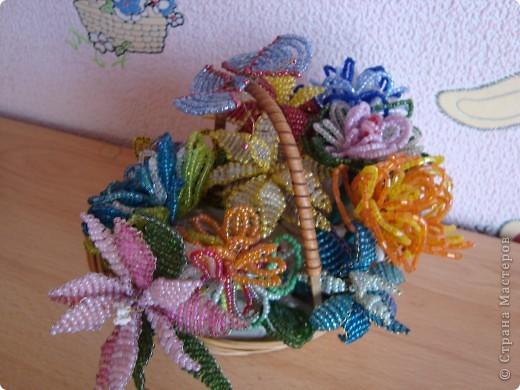 карзинка с цветами МК