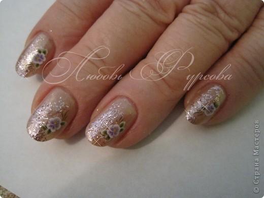 Здравствуйте,милые мастерицы!По просьбам выставляю несколько дизайнов на коротких ногтях.Многие варианты можно выполнять как на длинных,так и на коротеньких ноготочках. фото 4