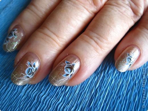 Здравствуйте,милые мастерицы!По просьбам выставляю несколько дизайнов на коротких ногтях.Многие варианты можно выполнять как на длинных,так и на коротеньких ноготочках. фото 5